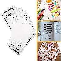 Hip Mall 12 Pack Bullet Journal Stencil Plastic Planner Plantilla de Dibujo para Bricolaje