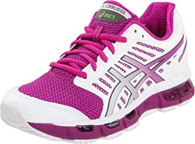 Asics Gel-Cirrus 33 - Zapatillas de running de sintético para mujer White/Electric Violet/Lime, color, talla 38: Amazon.es: Zapatos y complementos