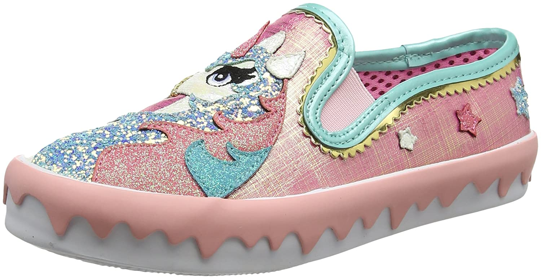 Irregular Choice Misty Castle - Zapatos de Tacón con Punta Cerrada Mujer 42 EU Rosa (Pink Metallic C)