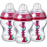 Tommee Tippee Advanced Anti-Colic Baby Bottle for Girls, 9 Ounce, 3 Count