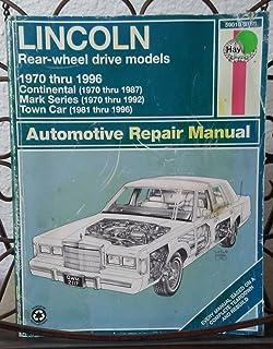 lincoln coupes and sedans 1988 00 haynes repair manuals chilton rh amazon com Chilton's Electrical Diagram 1996 Corvette Collector S Chilton's Manual Slave