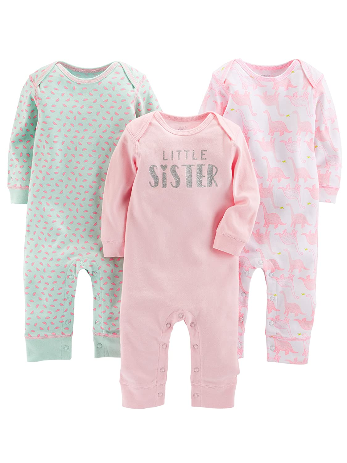 Simple Joys by Carters Baby Girls 3-Pack Jumpsuits