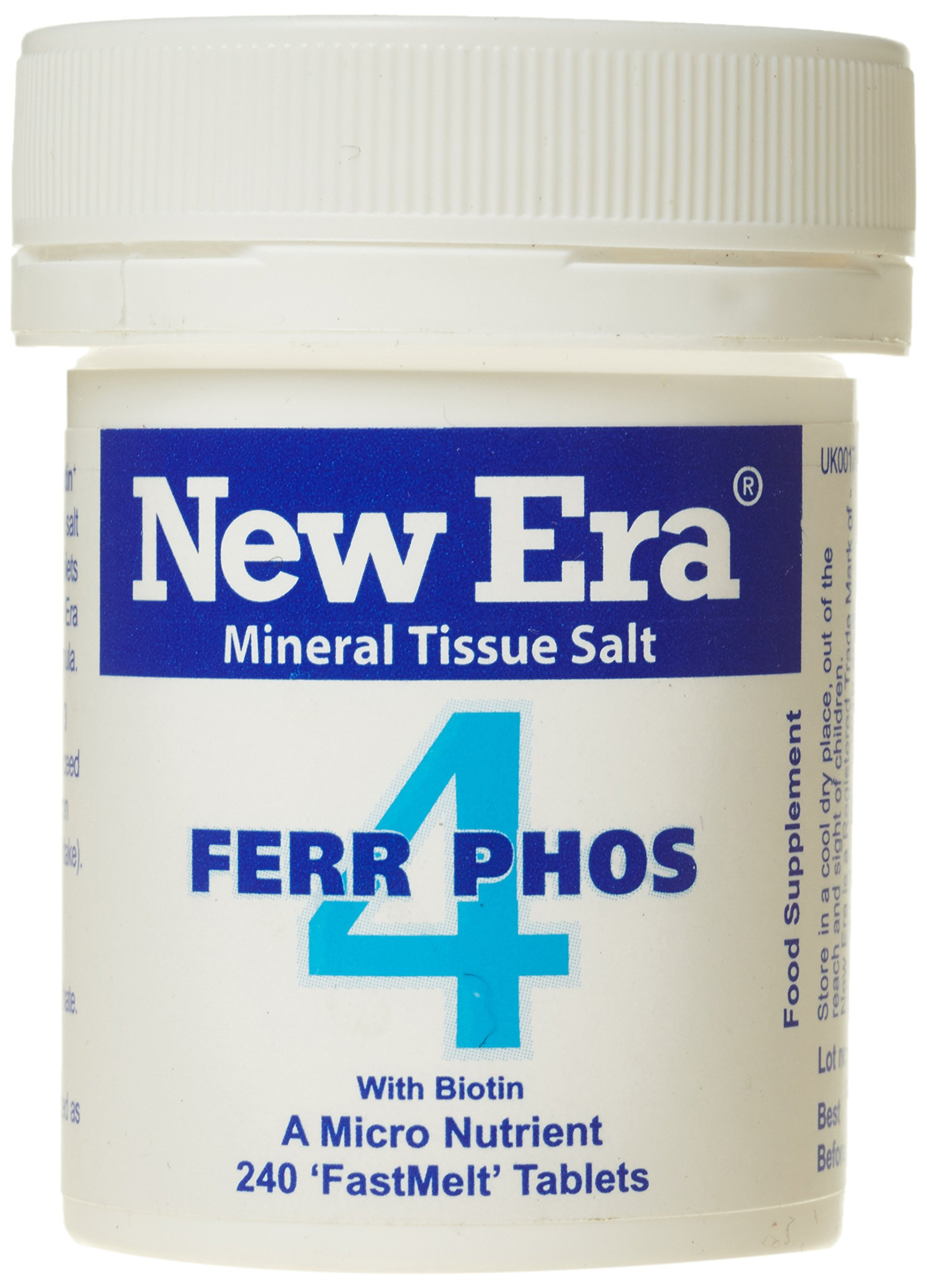 New Era Number 4 Ferr. Phos.- Pack of 240 Tablets