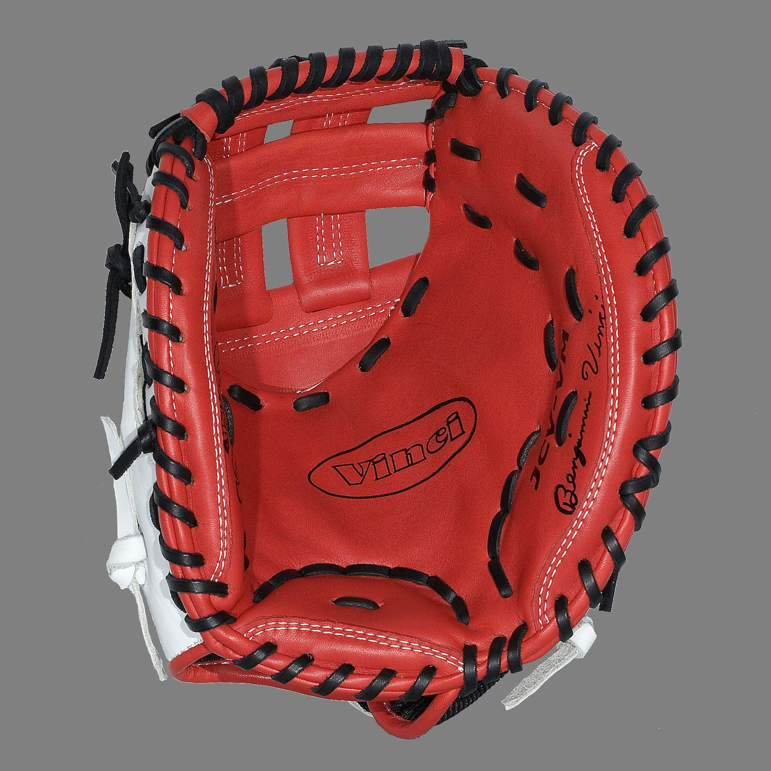 "Vinci Mesh Series JCV33 Red & White with Black Mesh 33"" Fastpitch Catcher"