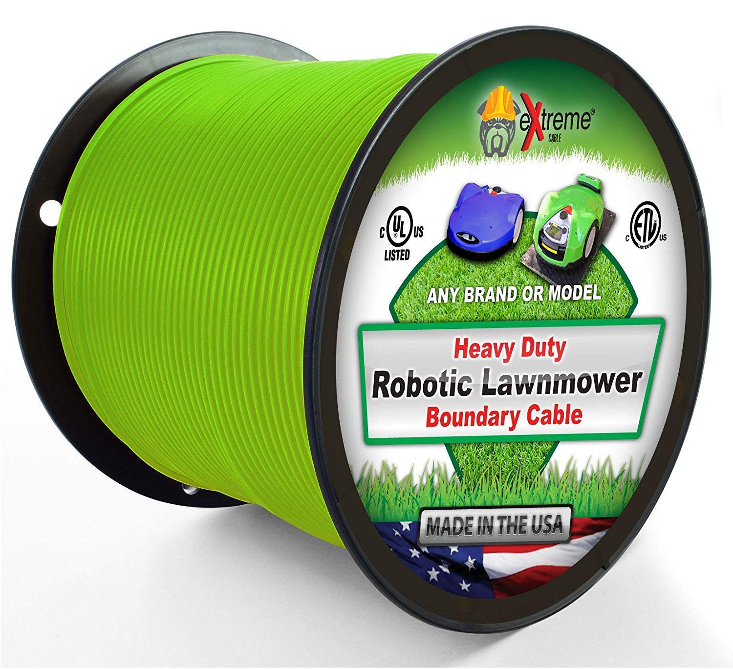 Robotic Lawnmower Wire 14 Gauge (Extra Thick Jacket) 1000 Ft - Heavy Duty Pure Solid Copper Core Automatic Mower Boundary Wire - Compatible with All Robotic Lawnmowers and Electric Dog Fences by Extreme Dog Fence