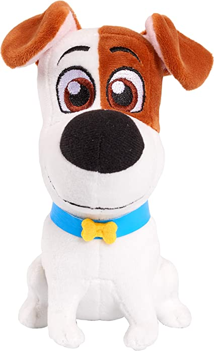 Amazon Com The Secret Life Of Pets 2 Max The Terrier Mix Stuffed Toy 8 Inch Toys Games