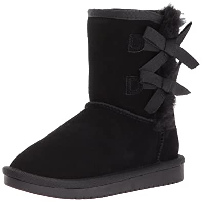 Koolaburra by UGG Girls' Victoria Short Fashion Boot, Black, 01 Youth US Little