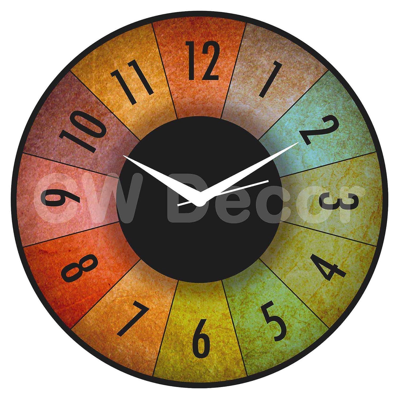 Buy creative width dartboard wall clock multicolor online at low buy creative width dartboard wall clock multicolor online at low prices in india amazon amipublicfo Image collections