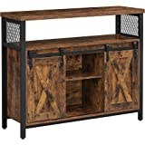 VASAGLE Buffet Cabinet, Sideboard, Accent Cabinet with Adjustable Shelf, Open Compartment, Industrial TV Console for Living R