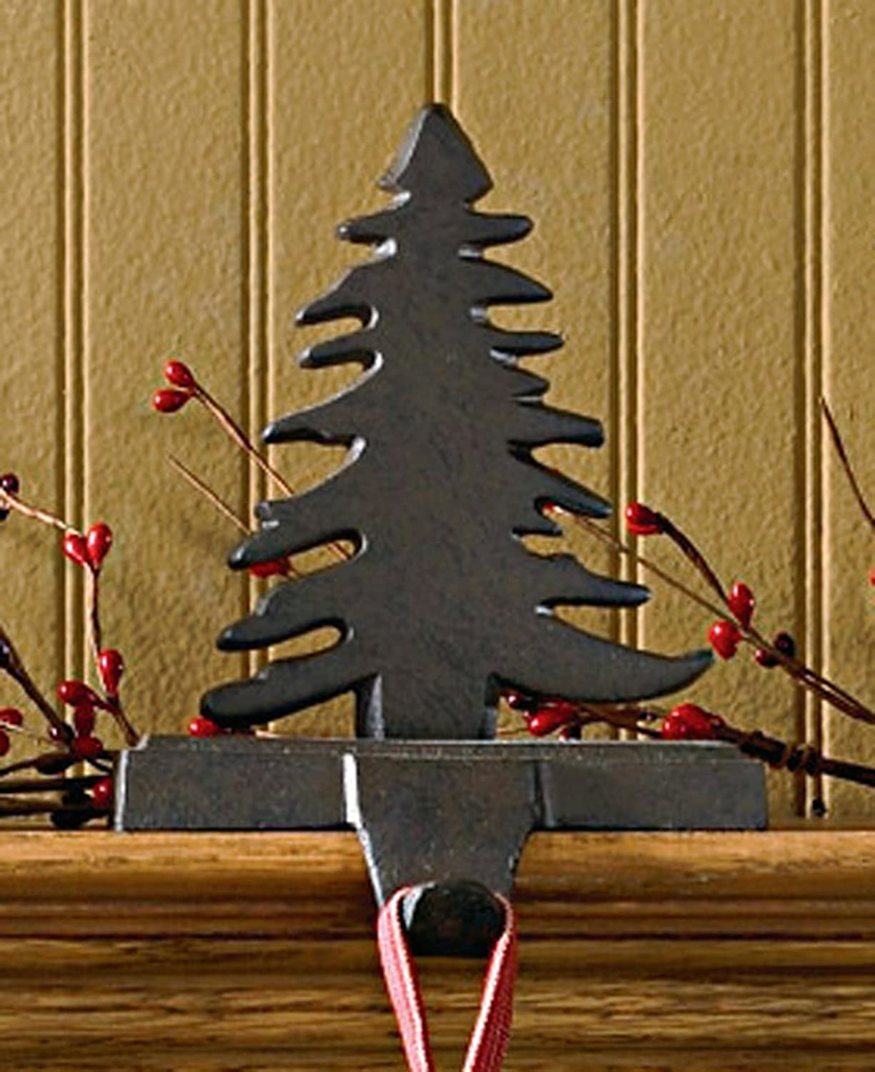amazoncom park designs iron christmas stocking hanger fir tree kitchen dining - Iron Christmas Tree