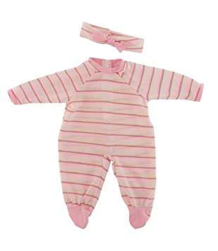 Ralf Smith - Pijama para muñeca bebé de 45 cm, color rosa (45743)