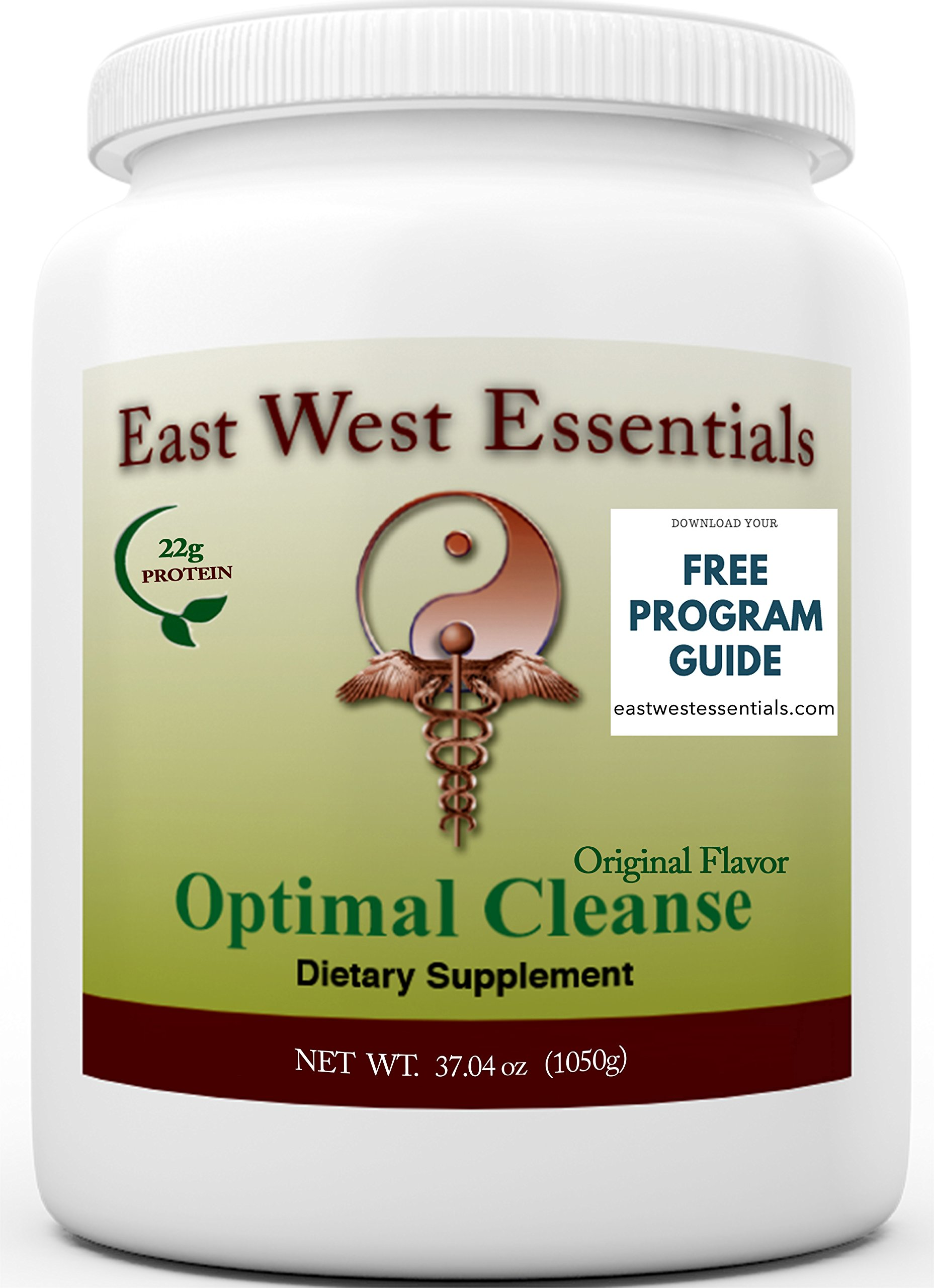 Optimal Cleanse - Original by East West Essentials - Helps Eliminate Toxins From The Liver And Fat Cells - Aids In Weight Loss - Can Be Used As A Meal Replacement - FREE PDF Program Guide