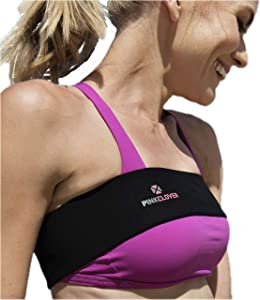 Breast Band, No-Bounce, High Impact Sports Bra Support Band   Post Surgery Bra Strap   Soft, Breathable Fabric