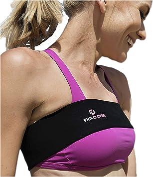 Banda para el pecho de Pinkclover, ajustable, de alto impacto, sin ...