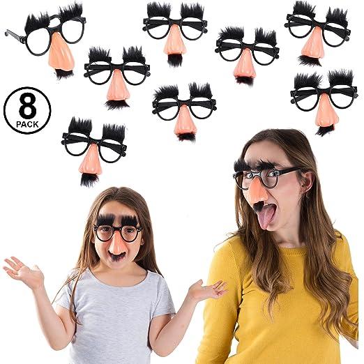 b89898c2d7 Amazon.com  Tigerdoe Groucho Glasses - Disguise Glasses - Funny Nose Glasses  - 8 Pairs - Groucho Marx Glasses  Clothing