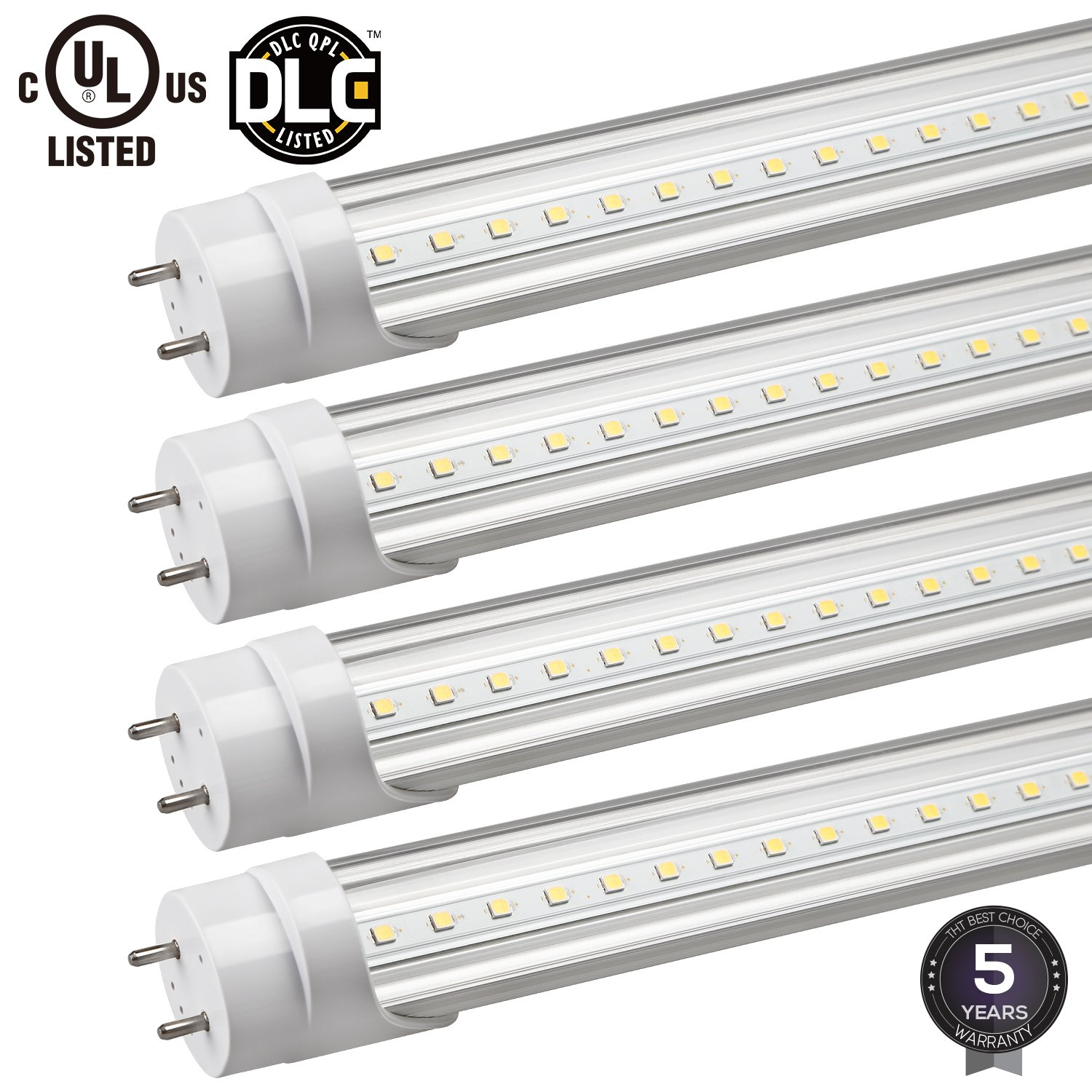 4 Pack Hybrid T8 4ft 18w 40w Equiv Led Shop Light Electronic Choke Circuit Diagram For Tube 2300lm Ballast Friendly Dual End Powered 4000k 50000 Hours