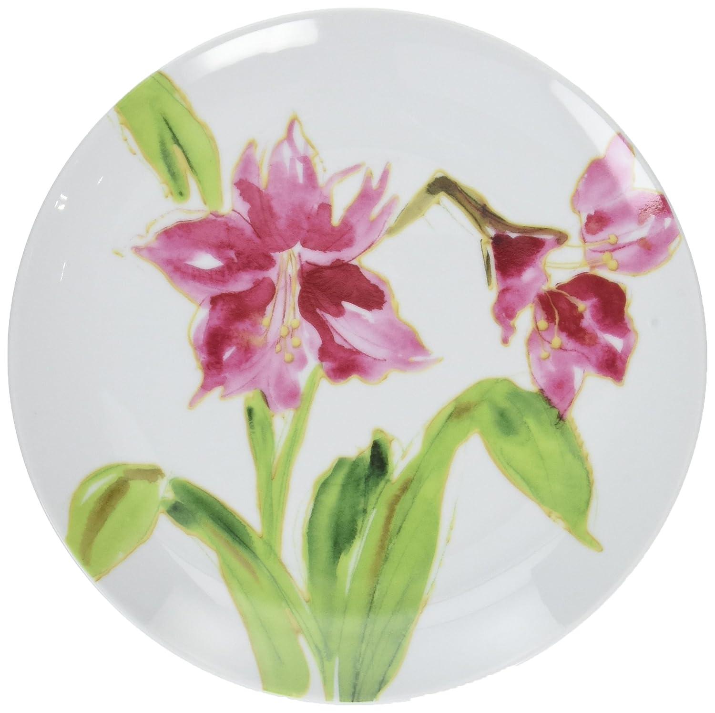 Paula Deen Dinnerware 4-Piece Dessert Plate Set, Amaryllis Meyer 58363