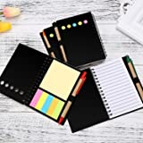 TOODOO 4 Packs 4.5 by 5.5 inch Spiral Notebook