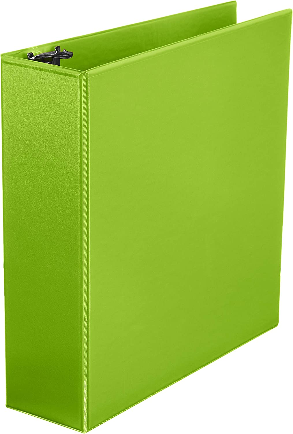 AmazonBasics 3-Inch Round Ring Binder, Green, View, 12-Pack