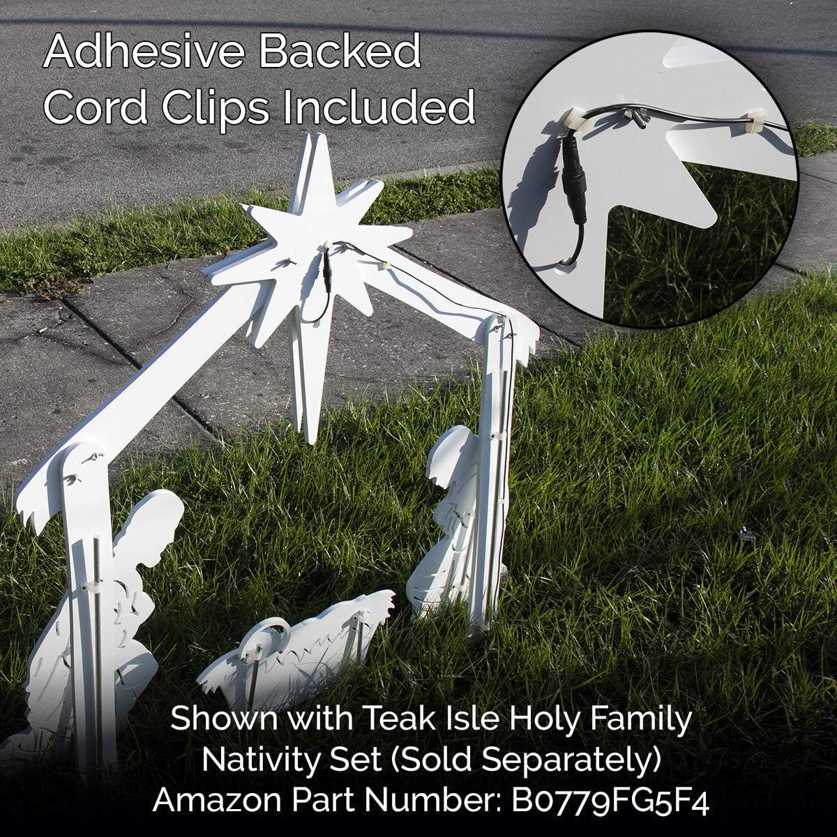Teak Isle Lit Nativity Star for Holy Family Outdoor Nativity Set