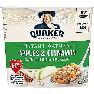 Quaker, Instant Oatmeal Express, Apples & Cinnamon, 1.51 Oz