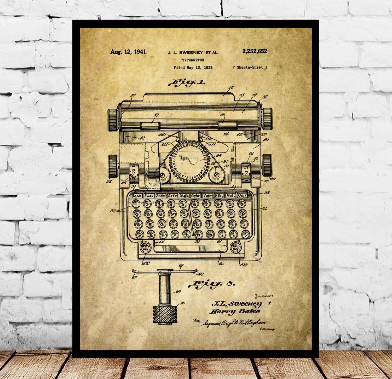 Typewriter P024 - Póster de máquina de escribir: Amazon.es ...