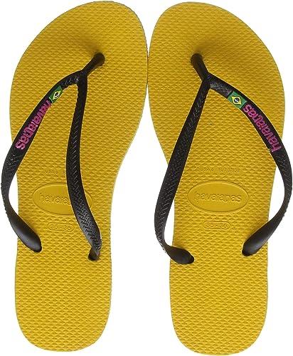 Havaianas Slim Brasil Logo, Chanclas Mujer: Amazon.es: Zapatos y complementos