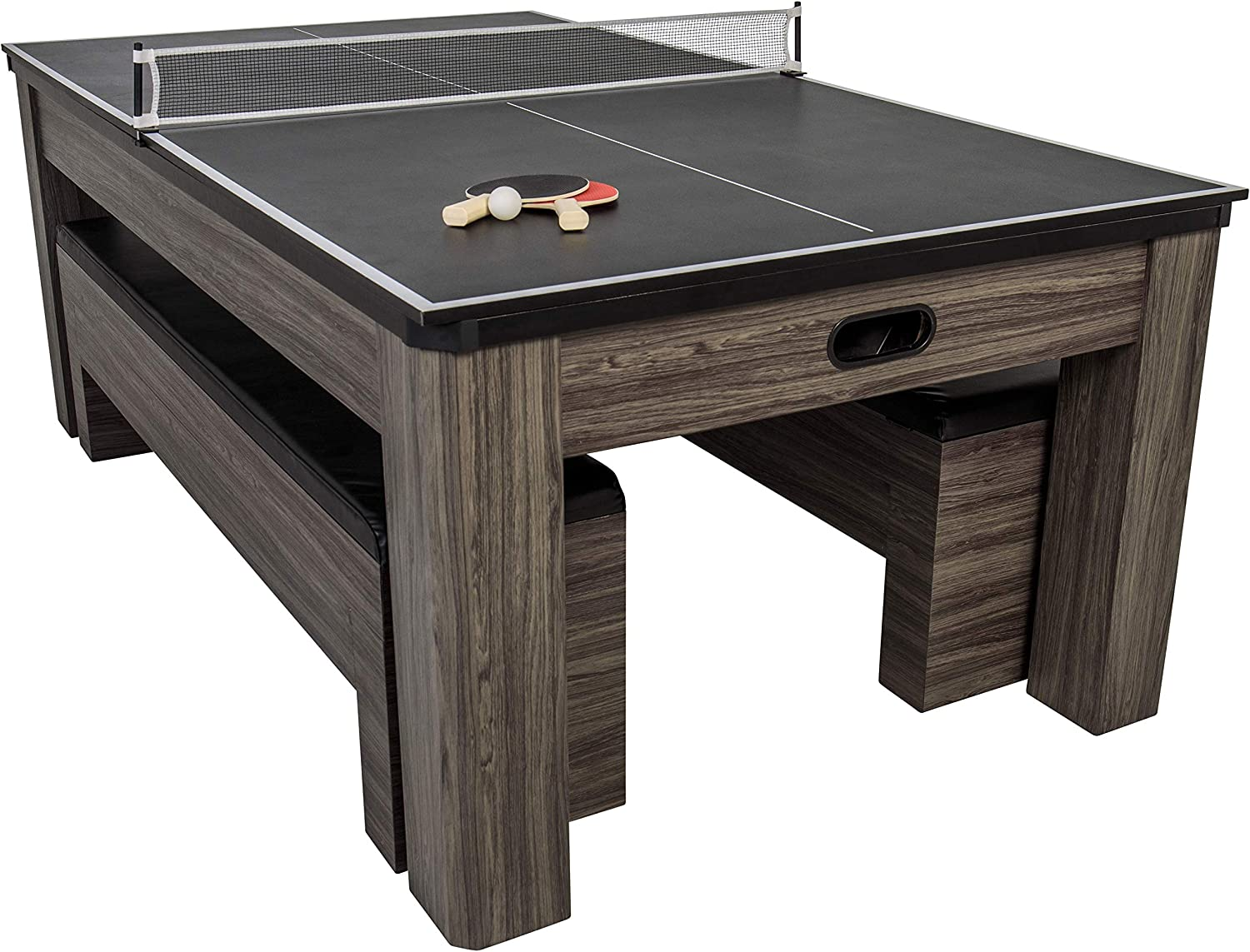 Atomic Northport 3 In 1 Dining Table With Air Powered Hockey And Table Tennis Black Sports Outdoors