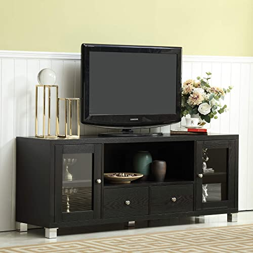 Mixcept 58″ Wooden TV Stand Entertainment Center