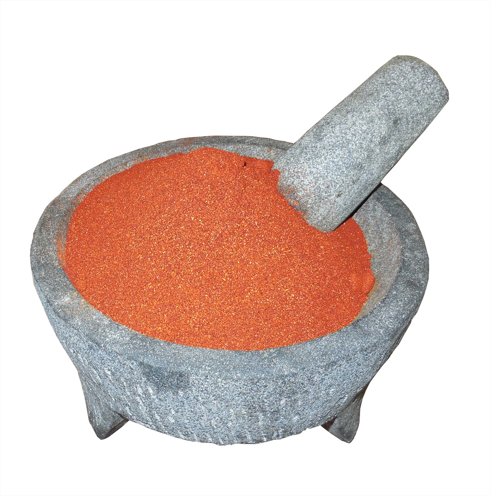 Arbol Chile Powder El Molcajete Brand for Sauces, Salsa, Pasta, Chili, Meat, Pizza, Potatoes, Vegetables, Soups, Stews, Chicken and BBQ (18 oz)