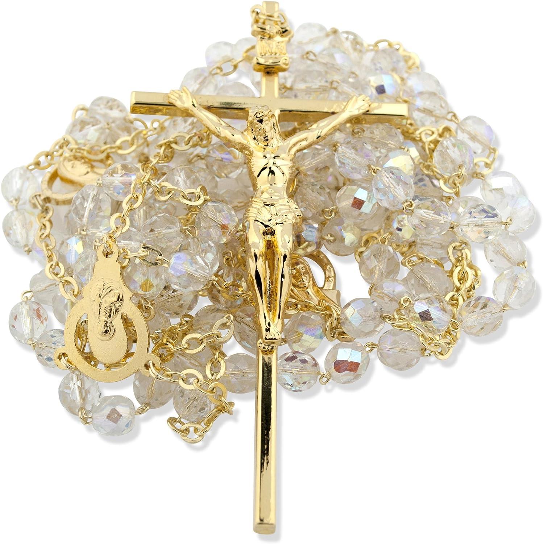 Venerare Catholic Crystal Wedding Rosary