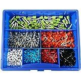 Assortiment 650 cosses électriques toutes dimensions section de câble de 0,5 à 6 mm²