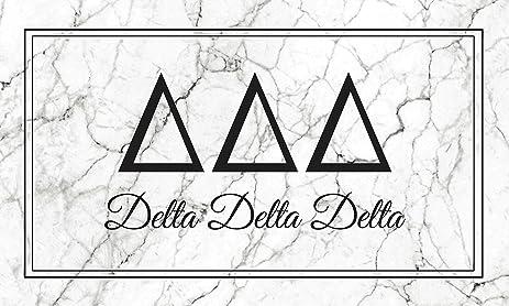 delta delta delta tri delta marble box letter sorority flag banner 3 x 5