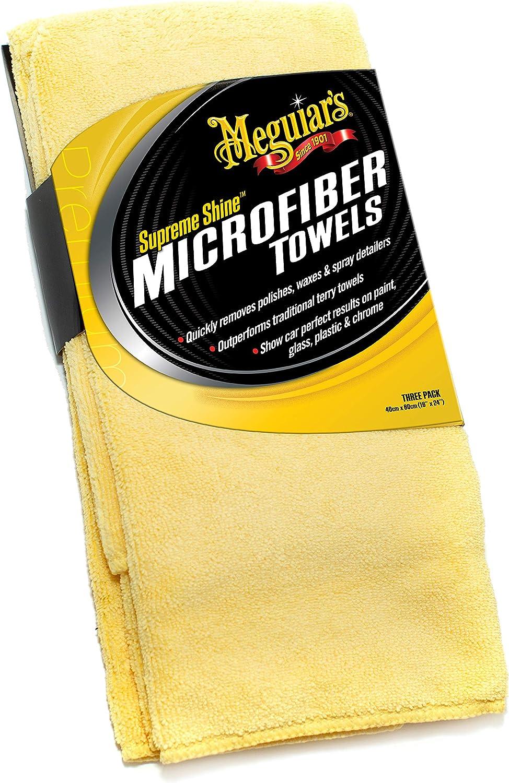 Meguiar's X2020 Supreme Shine Microfiber Towels, Pack of 3,Yellow: Automotive
