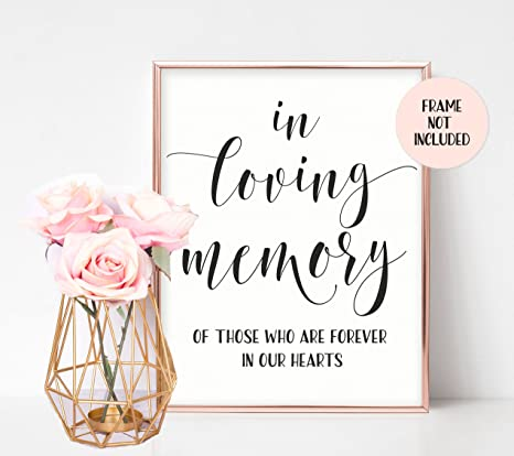 Amazon In Loving Memory Sign Memorial Table Sign For Wedding
