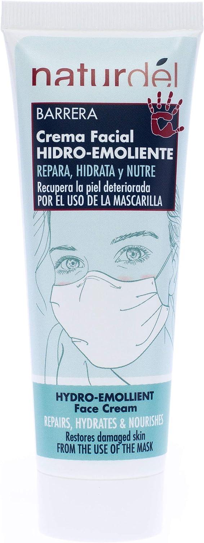 NATURDEL Crema Facial Hidro-emoliente. Nutre, Repara y Calma la Piel Seca o Dañada por El Uso de las Mascarillas
