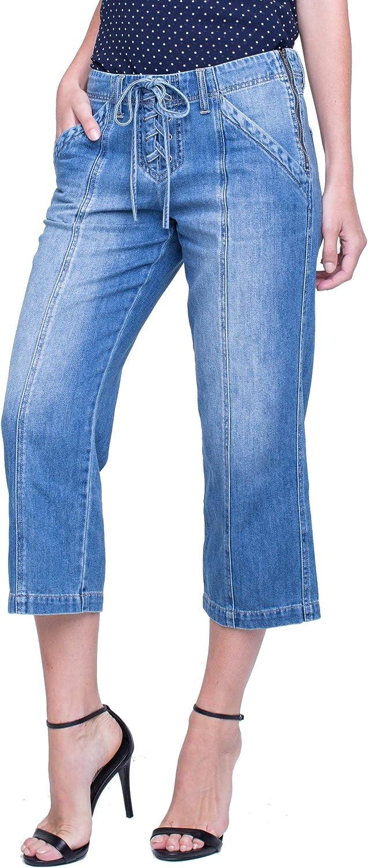 Liverpool Women's Juliette Crop Rigid Denim Blue Jeans