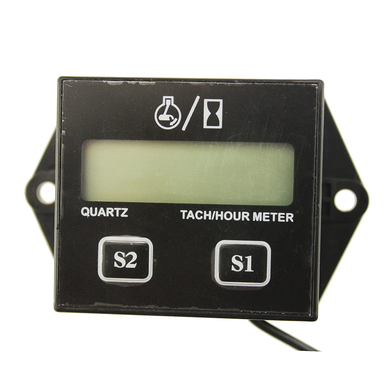 IZTOSS® LCD Display Digital Tachometer RPM Tacho Gauge Hour Meter For Motorcycle / Boat Engines