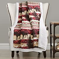 Deals on Holiday Lodge Sherpa Throw