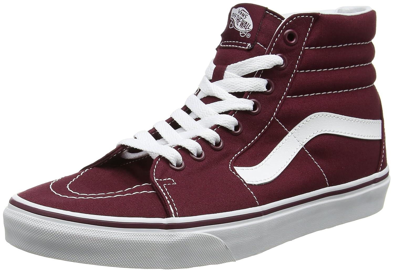 Vans Herren UA Sk8-Hi Hohe Sneakers, Gruuml;n  43 EU|Rot (Canvas)