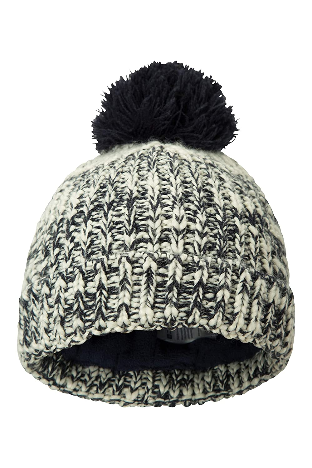 Mountain Warehouse Twisted Knitted Kids Beanie Warm Winter Hat