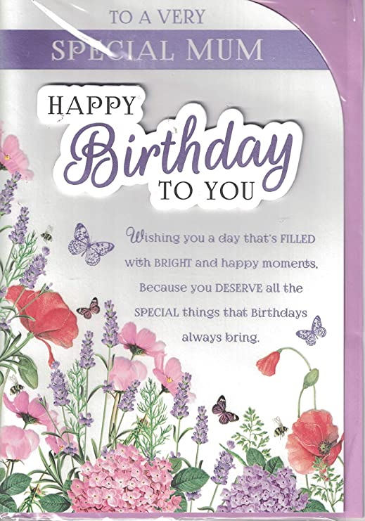 Madre Tarjeta de cumpleaños - de cumpleaños para mamá se ...