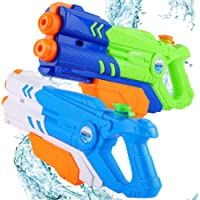 PhyPa Large Size 2 Pack Water Guns for Kids Double Nozzle Water Soaker Blaster Toy for Girls and Boys, Children Summer…