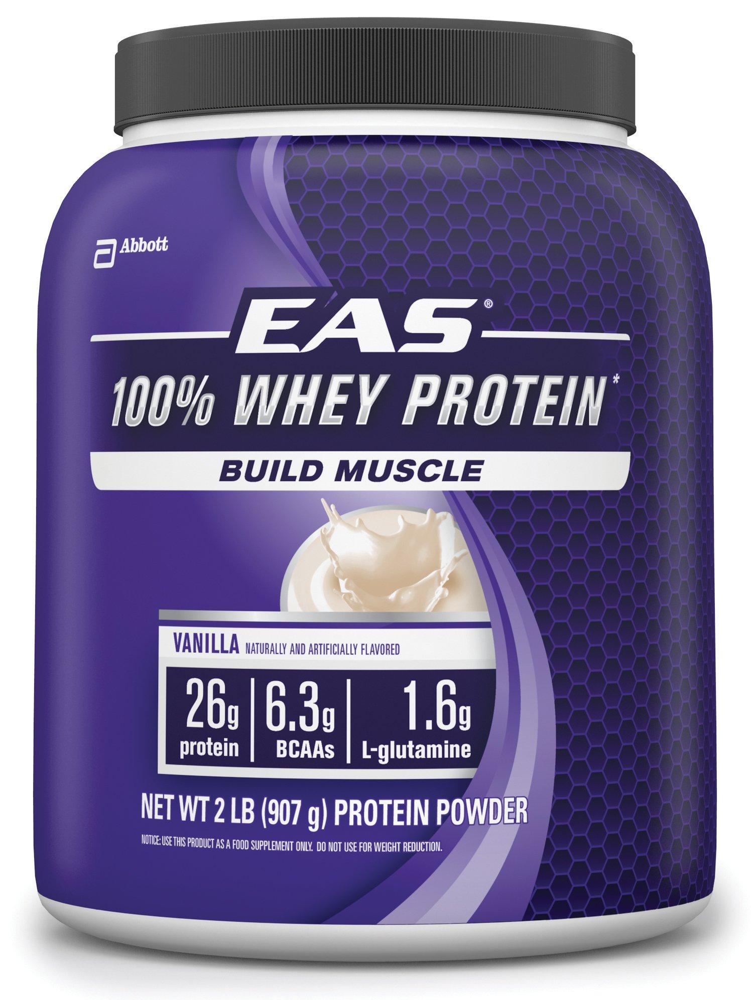 EAS 100% Whey Protein, Vanilla, 2-Pound, 23 Servings