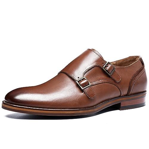 Desai Zapatos Estilo Monje de Doble Hebilla para Hombre ...