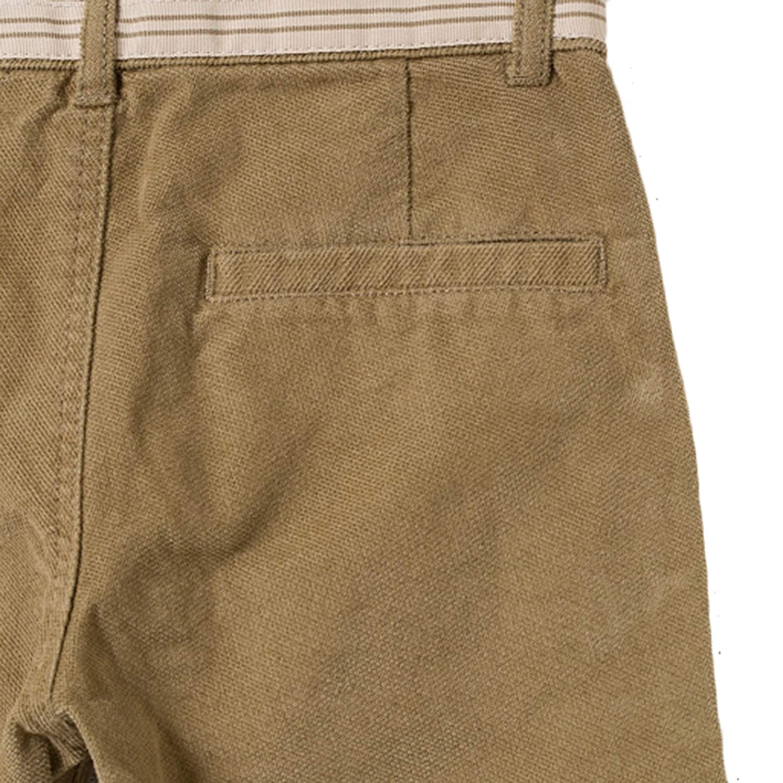 Brown Bossini Chill Lovers Gift Sweet Boys Slim Fashion Trendy Design Velvet Cord Pants,Size 130,US Size 10