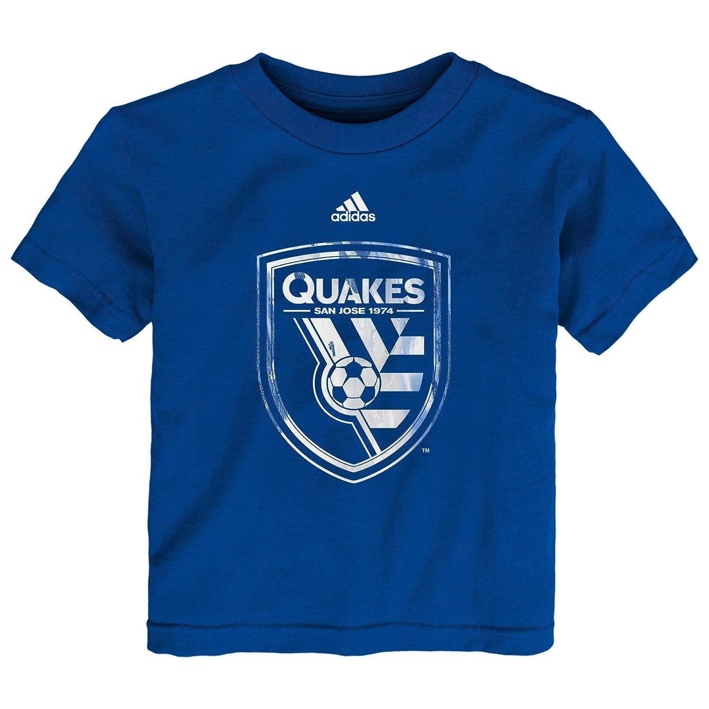 想像を超えての MLS B01N7Z34J4 Boys San Jose Earthquakes Boys Warペイントロゴ半袖Tシャツ、4トール、マスターブルー Earthquakes B01N7Z34J4, LUANA LANI:1a562f0c --- a0267596.xsph.ru