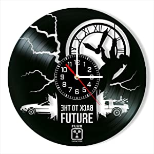 Back to The Future Vinyl Clock, Back to The Future Wall Clock 12 inch (30 cm), Original Gifts, The Best Home Decorations, Unique Art Decor, Original Idea for Home Decor