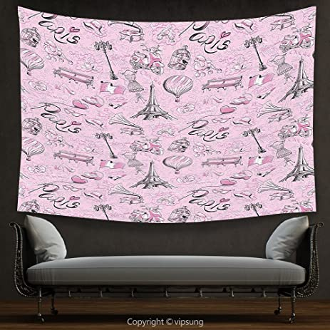Amazon.com: House Decor Tapestry Paris Decor Collection Paris Themed ...