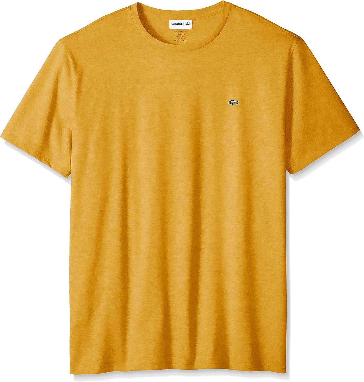 Lacoste Men Embroiled Crocodile Logo 1005 Cotton Crew Neck Short Sleeve T-Shirt